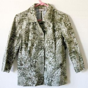 Chico's olive green jacket , Size 1